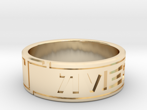 Star Wars ring - Aurebesh - 10.5 (US) / 63.5 (ISO) in 14k Gold Plated Brass