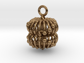 Double Torus Electromagnetic Field 23mm pendant in Natural Brass
