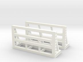 1/50 Anschlagbock 2er in White Processed Versatile Plastic