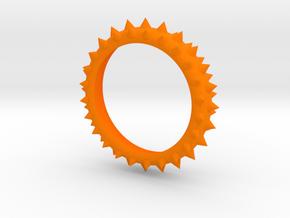 Bracelet With spike in Orange Processed Versatile Plastic