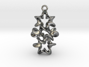 Twist And Twist Again Earring in Polished Silver