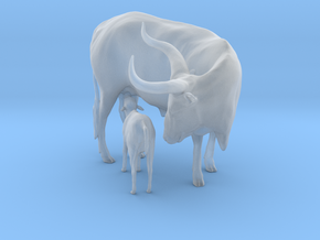Ankole-Watusi 1:25 Mother and Calf in Smooth Fine Detail Plastic