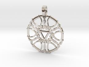 SATURN DIAMOND in Rhodium Plated Brass