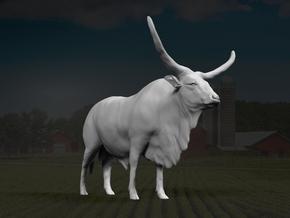 Ankole-Watusi 1:9 Standing Male in White Strong & Flexible