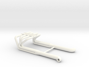 BBC 1/25 Roadster Headers in White Strong & Flexible Polished