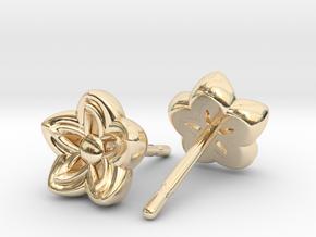 Kanzashi Earrings in 14k Gold Plated Brass