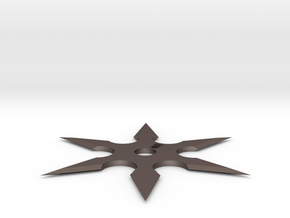 6 Side Shuriken (Cheaper) in Polished Bronzed Silver Steel