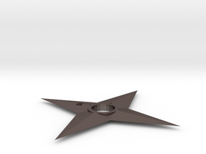 4 Side Shuriken (First Variant) in Polished Bronzed Silver Steel