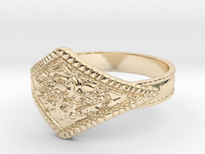 Ring of Favor in 14k Gold Plated Brass: 10 / 61.5