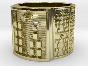 IROSOYEKUN Ring Size 13.5 in 18k Gold Plated Brass
