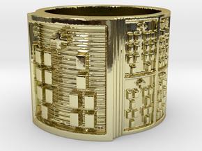 IROSOKANA Ring Size 11-13 in 18k Gold Plated Brass: 12 / 66.5