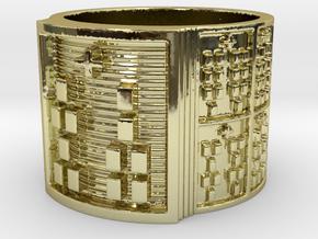IROSOSHE Ring Size 14 in 18k Gold Plated Brass