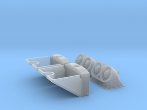1/30 Tiger I Radiators, Cooling Fans & Ducts in Smooth Fine Detail Plastic