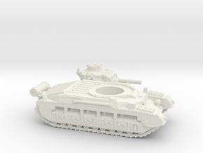 Matilda II with Fuel tank (British) 1/144 in White Natural Versatile Plastic