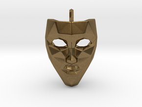 Mask Pendant in Natural Bronze