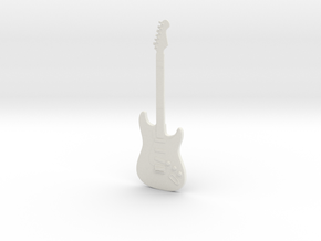 Electric Guitar (Stratocaster)! in White Strong & Flexible: 1:18