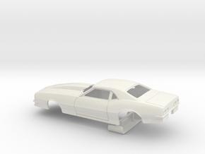 1/25 Pro Mod 68 Camaro W Small Wheel Wells in White Strong & Flexible