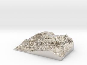 """MyTinyDolomites """"Gruppo Sella"""" - Dolomites South M in Platinum"""
