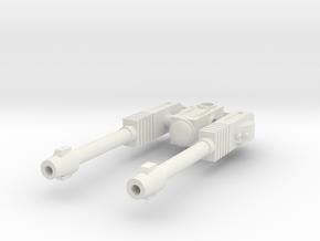 Alpha Lion's Turret in White Natural Versatile Plastic