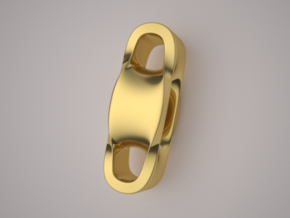 Triple Cube Gold 100 in 14K Yellow Gold