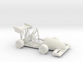 CMU Racing 16e Electric Race Car in White Natural Versatile Plastic