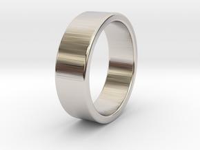 Bruno - Ring in Rhodium Plated Brass: 6 / 51.5