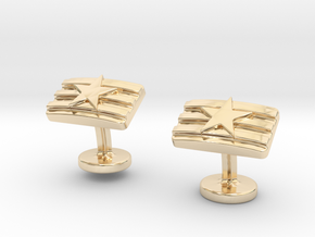 STARS & STRIPES in 14K Yellow Gold