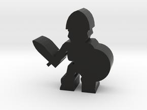 Game Piece, Skeleton Soldier, Sword in Black Natural Versatile Plastic