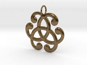 Health Harmony Therapy Celtic Knot in Natural Bronze: Medium