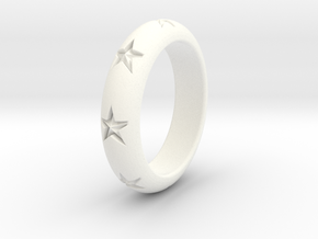 Ring Of Stars 14.1mm Size 3 in White Processed Versatile Plastic