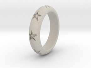 Ring Of Stars 14.1mm Size 3 in Natural Sandstone