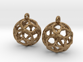 Starfish Sphererings in Natural Brass
