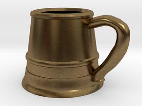 Tankard Pendant/Keychain in Natural Bronze
