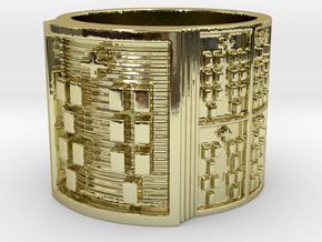 OKANAFUN Ring Size 11-13 in 18k Gold Plated: 12 / 66.5