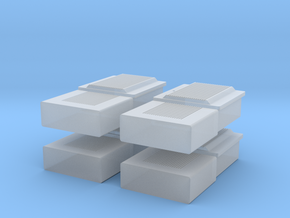 TJ-H01107x4 - boitiers electriques maison individu in Smooth Fine Detail Plastic