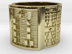 OGGUNDABIODDE Ring Size 13.5 in 18k Gold Plated Brass