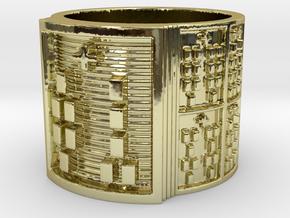 OGUNDAODI Ring Size 11-13 in 18k Gold Plated: 12 / 66.5