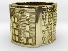 OGUNDAKA Ring Size 11-13 in 18k Gold Plated: 12 / 66.5