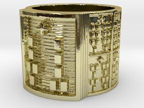 OGUNDAKETE Ring Size 11-13 in 18k Gold Plated Brass: 12 / 66.5