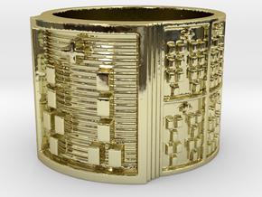 OGUNDAKETE Ring Size 14 in 18k Gold Plated Brass