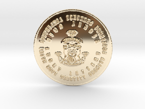 The Fat Cat Lotto Syndicate Coin of 7 Virtues in 14k Gold Plated Brass