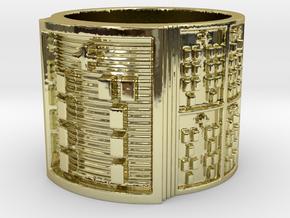 OSALOFOGBEYO Ring Size 11-13 in 18k Gold Plated: 12 / 66.5