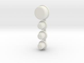 DNA75 Color DNA75C Faceplate v1-v3 button set in White Strong & Flexible