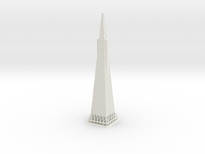 "12"" Transamerica Pyramid in White Natural Versatile Plastic"