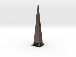 "12"" Transamerica Pyramid in Polished Bronzed Silver Steel"
