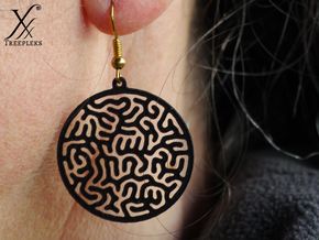 Round Reacting Earrings in Black Strong & Flexible