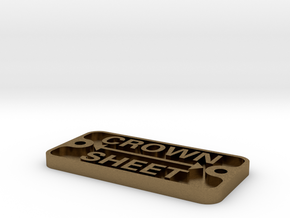 "Backhead Crown Sheet Plate, 1.5"" scale in Natural Bronze"