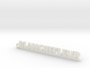 BLANCHEFLEUR Keychain Lucky in White Processed Versatile Plastic