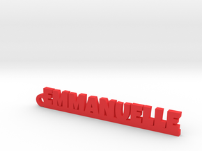 EMMANUELLE Keychain Lucky in Red Processed Versatile Plastic