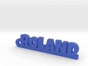 ROLAND Keychain Lucky in Blue Processed Versatile Plastic
